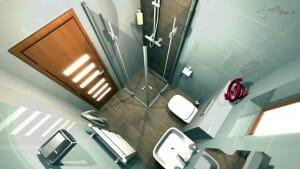 Malá kúpeľňa, format obkladu